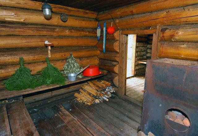 Деревенские бани внутренняя отделка фото